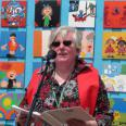 Rev Christine opening the Community Art Project