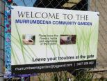Sign on entry to the Community Garden